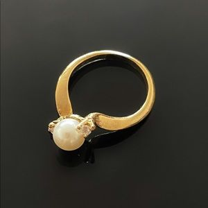 ✨Elegant VTG Pearl Rhinestone Ring